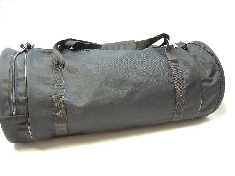 Круглая спортивная сумка чёрная
