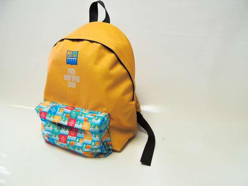 Сувенирный  рюкзак «Русь Новгородская» жёлтый