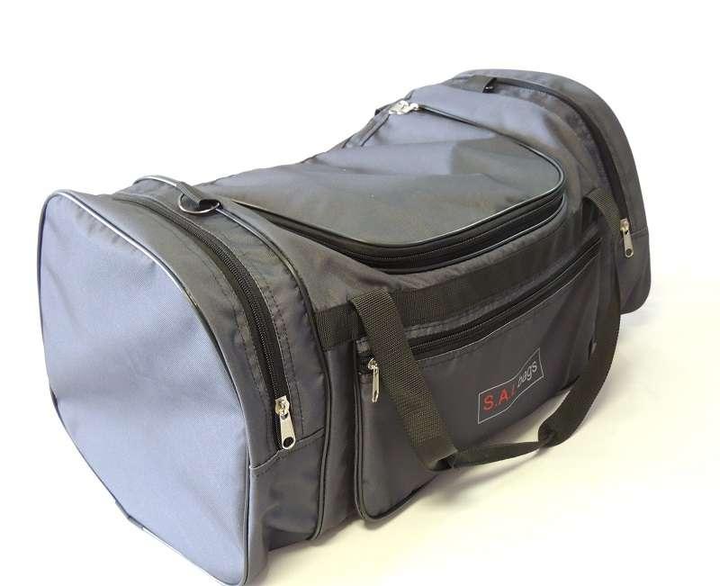 Большая спортивная сумка серая