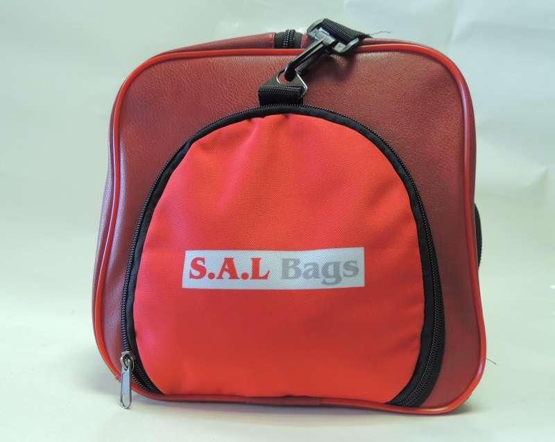Кожаная сумка красная