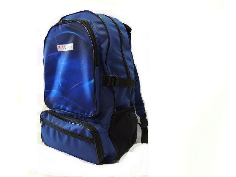 Рюкзак с отделением под обувь синий