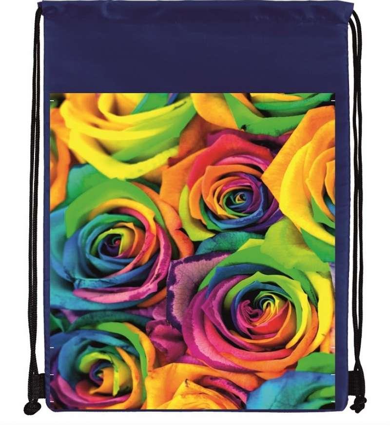 Мешок под сменку 36х45 см. Розы
